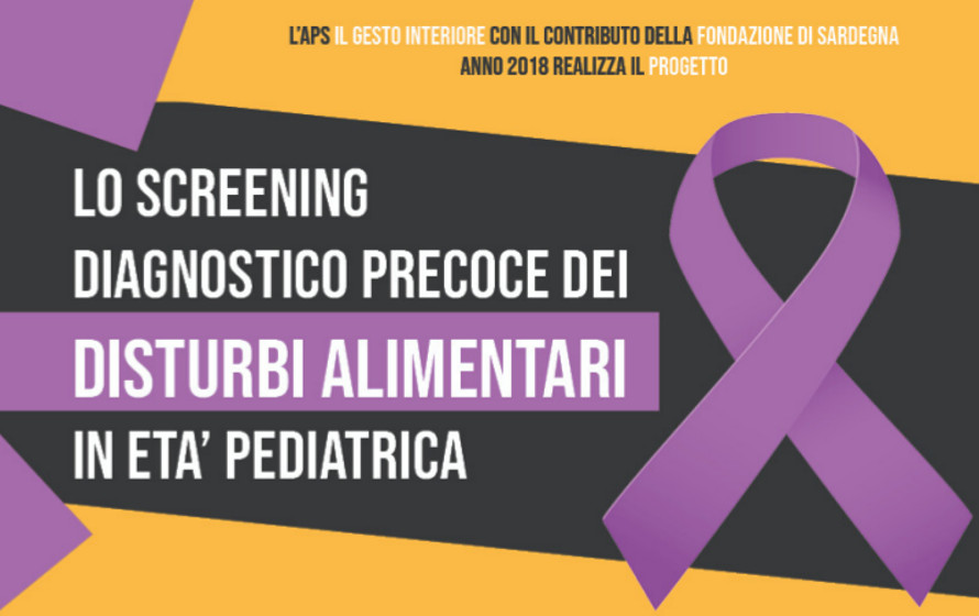 Lo screening diagnostico precoce dei disturbi alimentari in età pediatrica