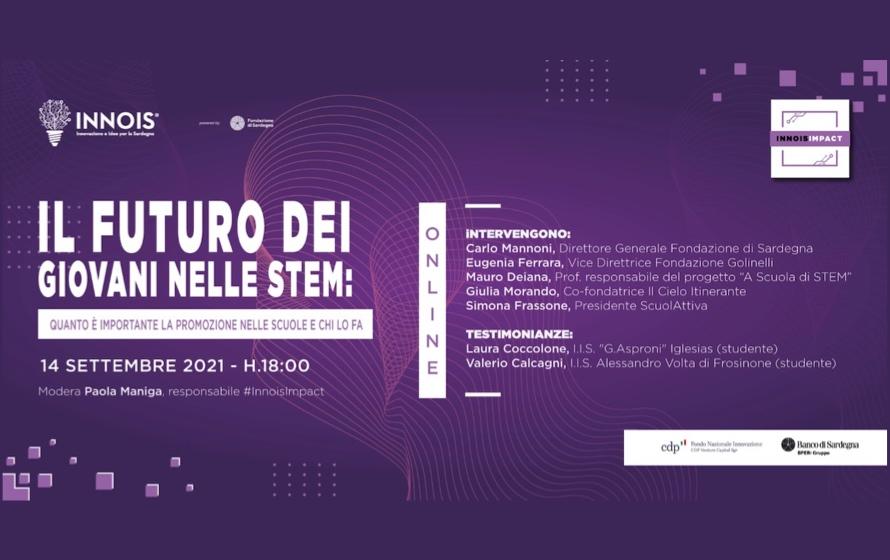 Il futuro dei giovani nelle STEM, il 14 settembre l'evento di Innois su Stem e Bando Scuola